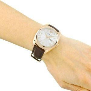 Emporio Armani Men's Dress Brown Leather Watch